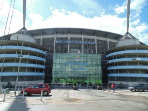 """Er den største pokalen endelig på vei til Etihad Stadium? """"East Stand, Etihad Stadium"""" (CC BY 2.0) by Gene Hunt"""